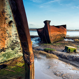 Rusting Boats on Mud Banks