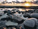 Cornish Coastline with Sunset