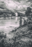 Geo Thermal Riverside Scene  Yellowstone River