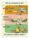 Fly by Clipper to Near East  India and Pakistan  Pan American World Airways