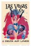 Las Vegas  USA  Vegas Show Girl  Delta Air Lines