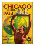 Chicago World's Fair 1933  Century of Progress  Santa Fe Railroad