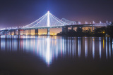 Oakland Bay Bridge  Night Reflection