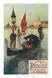 Venise par Saint Gothard  Venice  Italy  Gondolas Gondolieri  Art Nouveau  La Belle Époque