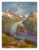 Mer de Glace (Sea of Ice) Glacier  Mont Blanc (Savoie) Alps  France  Prime Samaritaine Paris