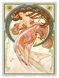 Dance, Art Nouveau Beauty Reproduction d'art par Alphonse Mucha