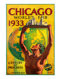 Chicago World's Fair 1933  Century of Progress  Santa Fe Railroad