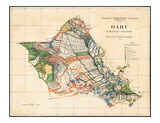 Oahu  Hawaiian Islands  Hawaii Territory Survey Map