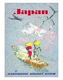 Japan  Cherry Tree Blossoms  Mount Fuji  SAS Scandinavian Airlines System