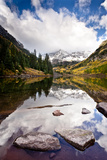 Mountain Lake Reflection with Fall Color's Aspen  Colorado