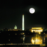 Washington DC Skyline and Monuments at Night