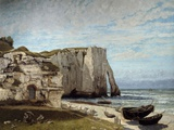 The Etretat Cliffs after the Storm by Gustave Courbet