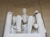Usa  Washington Dc  Low Angle View of Lincoln Memorial