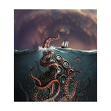 A Fantastical Depiction of the Legendary Kraken