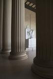 Usa  Washington Dc  Lincoln Memorial between Columns