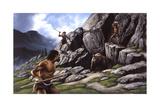 Neanderthals Hunt a Cave Bear