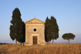 Chapel of Vitaleta with Cypress Trees near Sunset