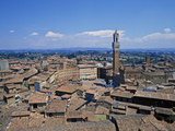 Siena  View to Piazza Del Campo  Tuscany