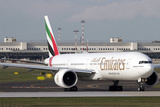 An Emirates Boeing 777 at Milano Malpensa Airport  Italy