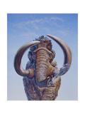 Woolly Mammoth Charging  Pleistocene Epoch
