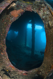 Atmospheric Scene from the Liberty Wreck  Tulamben  Bali  Indonesia