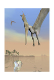 Pteranodon Fishing for Food