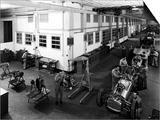 Workers Assembling Car Motors in the Ferrari Factory