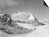 View of the Mountains and the Peak of the Matterhorn