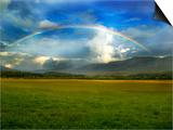 Rainbow Over Valley