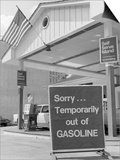 1970s Sorry Temporarily Out of Gasoline Sign During 1973 Opec Oil Shortage Crisis