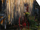 Wheel Besides Barn  Drury Place  Weston  Vermont  USA