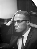 Malcolm X waits at Martin Luther King Press Conference  1964