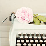 Typewriter and Rose