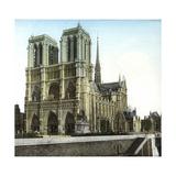 Notre Dame De Paris Cathedral Seen from the Embankments  Paris