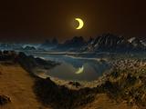 Eclipse over Alien Landscape