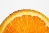 Fresh Orange Slice on White