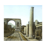 Pompeii (Italy)  the Arch of Triumph and the Forum Road  Circa 1890-1895