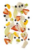 Fruit Salad on White Background