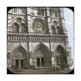 Notre Dame De Paris Cathedral  of the Porch  Paris (IVth Arrondissement)  Circa 1860