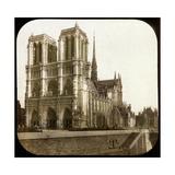 Notre Dame De Paris Cathedral Seen from the Embarkments  Paris