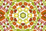 A Kaleidoscope Image of Salad Vegetables