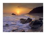 Sunset over Leo Carillo State Beach  Malibu  California