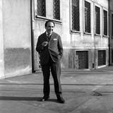 The Poet Alfonso Gatto in a Backyard in a Milan