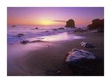Enderts Beach at sunset  Redwood National Park  California