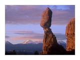 La Sal Mountains and Balanced Rock  Arches National Park  Utah