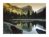 Mt Watkins reflected in Mirror Lake  Yosemite National Park  California