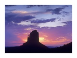 East and West Mittens  buttes at sunrise  Monument Valley  Arizona