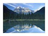 Mt Robson reflected in lake  British Columbia  Canada