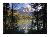 Mt Moran and String Lake  Grand Teton National Park  Wyoming