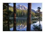 Mt Moran reflected in String Lake  Grand Teton NP  Wyoming